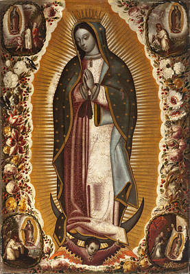 Virgen Mary Painting - La Virgen De Guadalupe by Manuel de Arellano