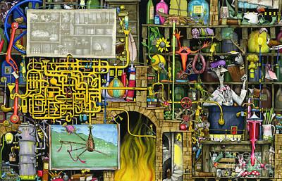 Shelf Digital Art - Laboratory by Colin Thompson
