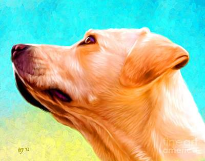 Buy Dog Art Digital Art - Labrador Painting by Iain McDonald