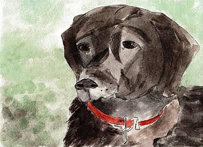 Labrador Retriever Print by Elizabeth Briggs