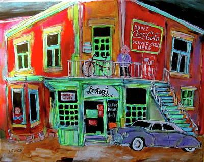 Litvack Painting - Lachine Bistro by Michael Litvack