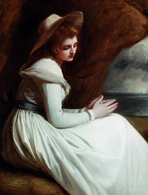 Romney Painting - Lady Emma Hamilton (1765-1815) by Granger