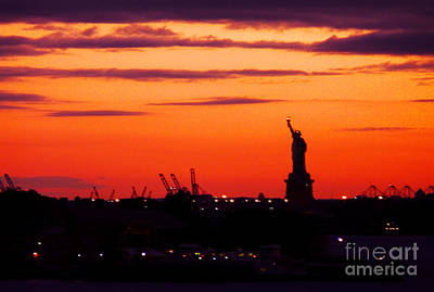 Photograph - Lady Liberty Bids Adieu by Kendall Eutemey