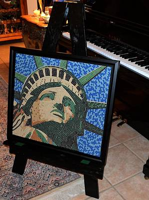 Mixed Media - Lady Liberty by Doug Powell