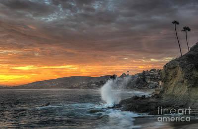 Photograph - Laguna Beach Sunset by Eddie Yerkish