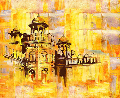 Karachi Lahore Painting - Lahore Fort by Catf