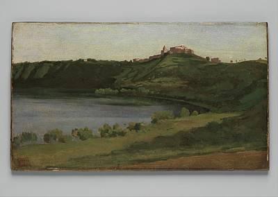 Lake Albano And Castel Gandolfo Print by Camille Corot