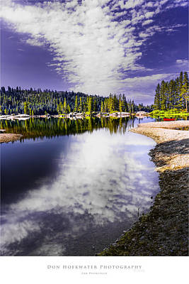 Ebbetts Pass Photograph - Lake Alpine by PhotoWorks By Don Hoekwater