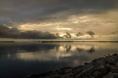 Photograph - Lake Erie Sunset Clouds by Guy Whiteley