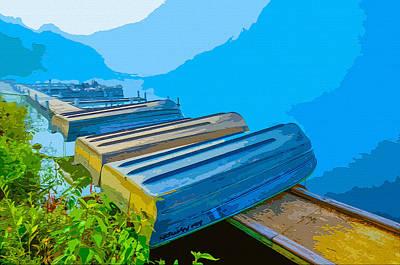 Rowboat Digital Art - Lake Fog by Brian Stevens