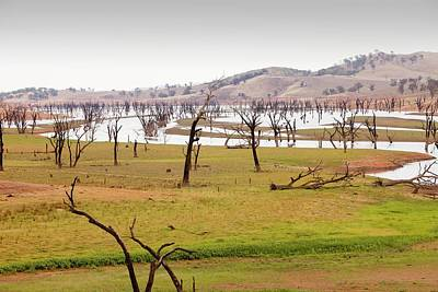 Lake Hume In Drought Art Print