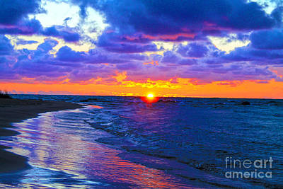 Photograph - Lake Huron Sunset 2 by Nina Silver