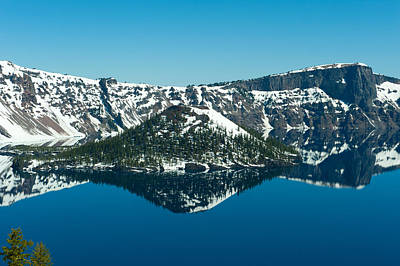 Lake In Winter, Crater Lake, Crater Art Print