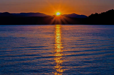 Photograph - Lake Jocassee Sunrise by Alex Grichenko