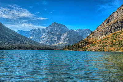 Photograph - Lake Josephine On The Grinnell Glacier Trail by Brenda Jacobs
