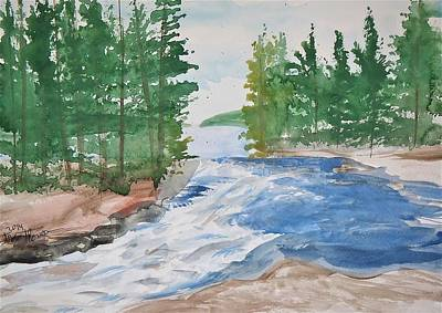Lake Kawaseecheewank Original by Troy Thomas
