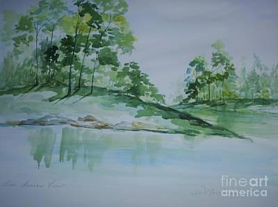 c9a7f3f552 Wall Art - Painting - Lake Lanier View by Jill Morris