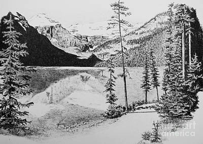 Drawing - Lake Louise by Frank Townsley
