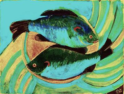 Digital Art - Lake Martin  Fish by Carol Oufnac Mahan