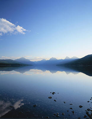 Enviroment Photograph - Lake Mcdonald And The Rocky Mountains by Panoramic Images