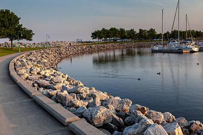 Katharine Hepburn - Lake Michigan Nature Scenary near Racine Wisconsin by Jiayin Ma