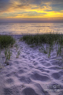 Lake Michigan Photograph - Lake Michigan Sunset by Twenty Two North Photography