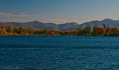 Bobsled Photograph - Lake Placid And The Adirondack Mountain Range by Brenda Jacobs