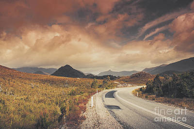 Photograph - Lake Plimsoll Road. Tasmanian Landscape by Jorgo Photography - Wall Art Gallery