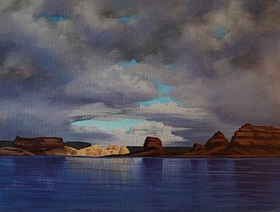 Painting - Lake Powell Storm by Cheryl Fecht