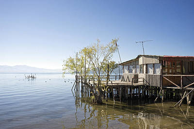 Photograph - Lake Prespa Fishing Hut by For Ninety One Days