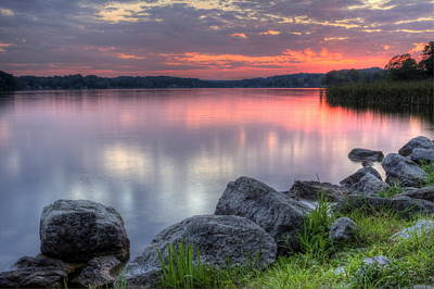 Photograph - Lake Sunset by David Dufresne