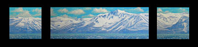 Snowscape Painting - Lake Tahoe After The Storm Triptych by Frank Wilson