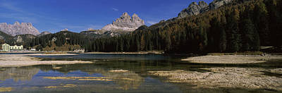 Lake With A Mountain Range Print by Panoramic Images