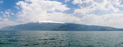 Lake Garda Photograph - Lake With Mountain Range by Panoramic Images