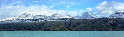 Lake With Snow Capped Mountains Art Print