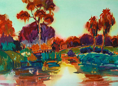 Lakeside Glow Art Print