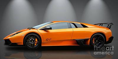Photograph - Lamborghini Murcielago Sv by Matt Malloy