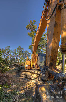 Photograph - Cat Excavator  by Dale Powell