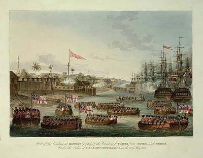 Landing At Rangoon Art Print by British Library