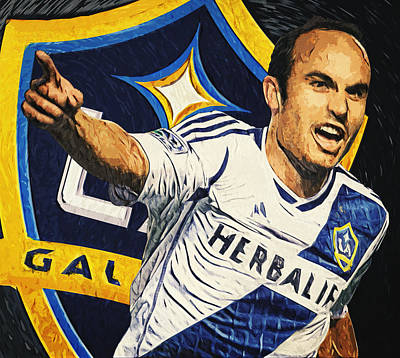 Stadium Digital Art - Landon Donovan by Taylan Apukovska
