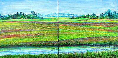 Tidal Creek Painting - Land's End by Pamela Iris Harden