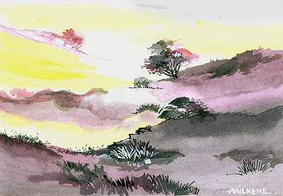 Mystic Drawing - Landscape 1 by Anil Nene