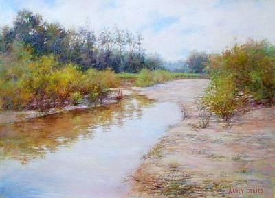 Flowers Painting - Landscape  by Nancy Stutes