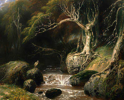 Beautiful Creek Painting - Landscape Solitude by Mountain Dreams