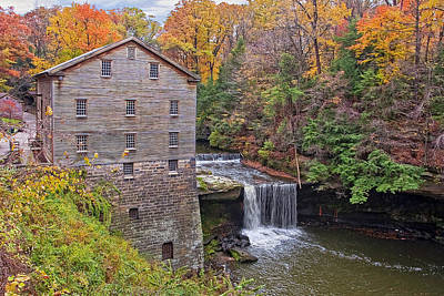 Grist Mill Photograph - Lantermans Mill by Marcia Colelli