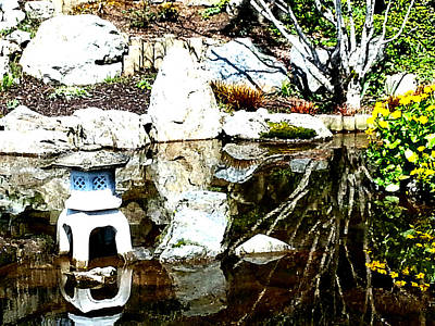 Photograph - Stone Lantern  by Nikki Dalton