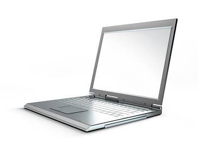Laptop Computer, Artwork Art Print by Leonello Calvetti