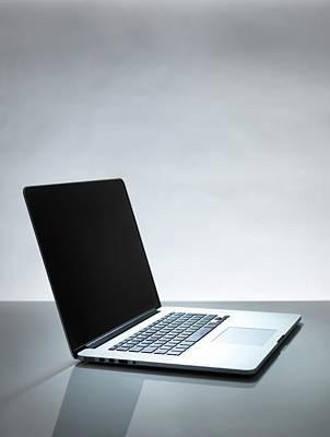 Laptop Art Print by Tek Image