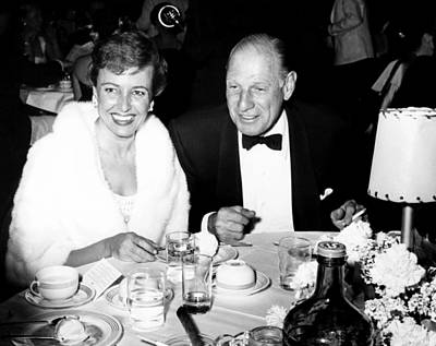 Banquet Photograph - Laraine Day, Left, And Her Second by Everett