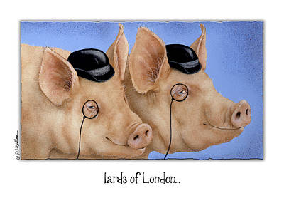 Barrister Painting - lards of London... by Will Bullas